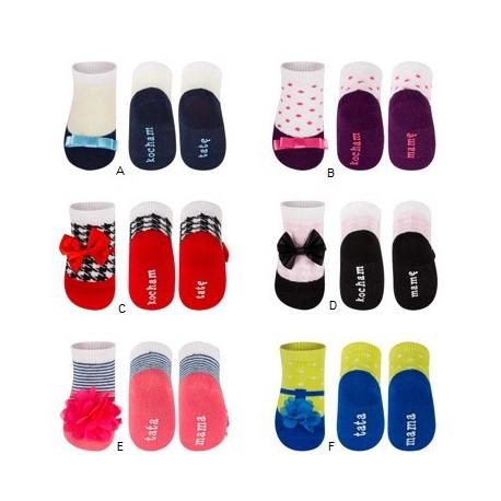 des chaussettes pour bebe girly ballerine effet trompe l 39 oeil. Black Bedroom Furniture Sets. Home Design Ideas