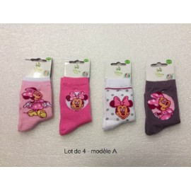 Lot de 4 chaussettes MINNIE MOUSE