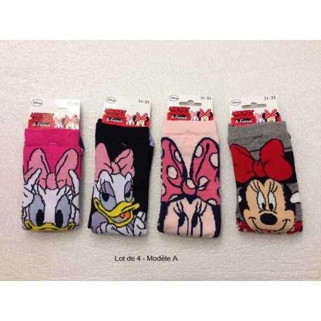 Lot de 4 chaussettes MINNIE AND DAISY
