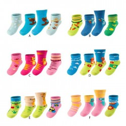 Lot de 3 paires de chaussettes bebe Surprise