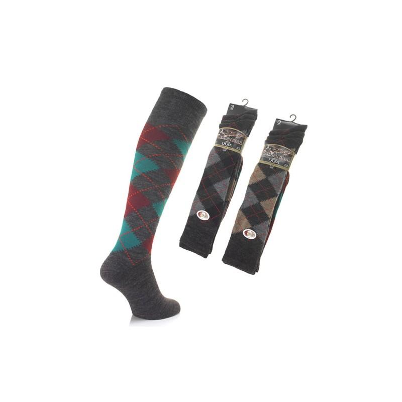 lot de trois chaussettes hautes en laine pour homme lainer. Black Bedroom Furniture Sets. Home Design Ideas
