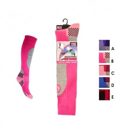 chaussettes de ski pour femme thermiques ski. Black Bedroom Furniture Sets. Home Design Ideas