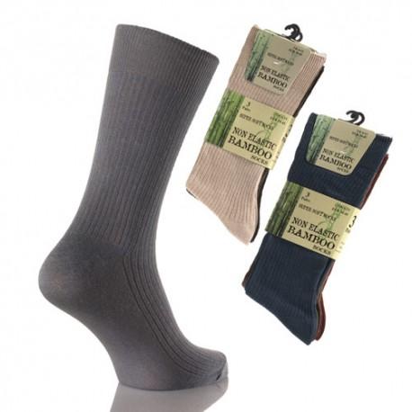 Lot de 3 chaussettes Bambou sans elastique