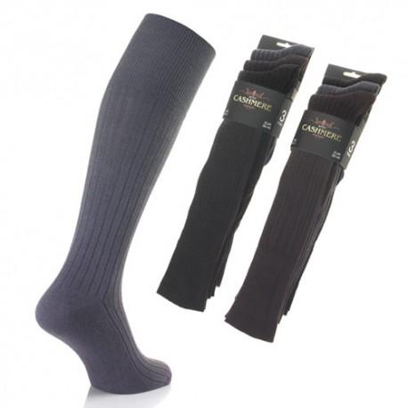 Lot de 3 chaussettes hautes CACHEMIRE ET LAINE