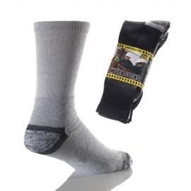 Lot de 3 paires de chaussettes renforcées pour travail WORKSO