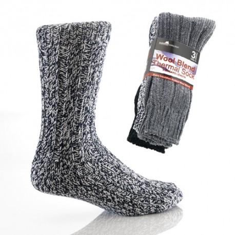 Lot de 3 chaussettes en laine MOSCOU