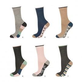 Chaussettes femme coton non comprimantes