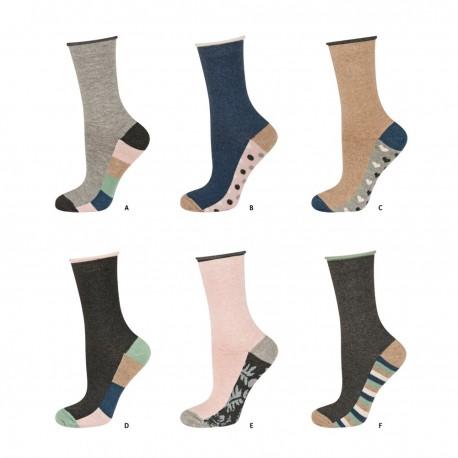 Chaussettes pour femme en coton non comprimantes
