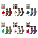Lot de 2 paires de chaussettes femme avec pochette cadeau