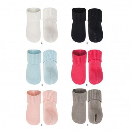 Chaussettes pour bébé en coton à revers