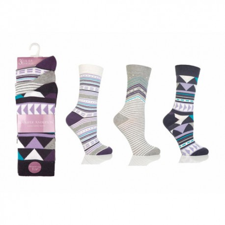 Lot de 3 chaussettes Jennifer Anderton