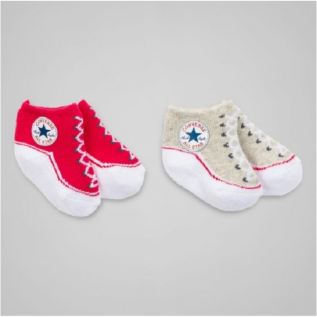 lot de 2 chaussettes chaussons converse all star pour b b. Black Bedroom Furniture Sets. Home Design Ideas