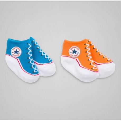 49d5103df6107 Lot de 2 chaussettes chaussons converse all star pour bébé