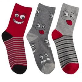 Lot de 3 paires de chaussettes enfant SMILEY