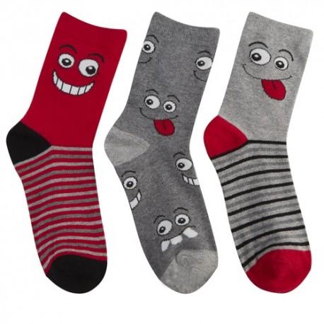 Lot de 3 chaussettes enfant smiley