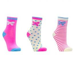 Lot de 3 paires de chaussettes fille PAPILLON
