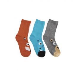 Lot de 3 paires de chaussettes enfant TETE ANIMAL