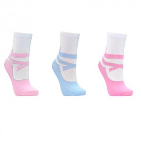 Lot de 3 chaussettes fille effet ballerine