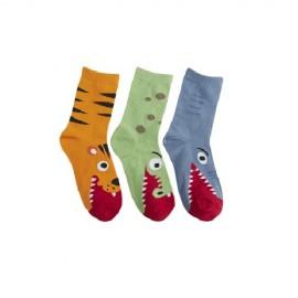 Lot de 3 paires de chaussettes enfant CROCO RIGOLO
