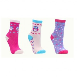 Lot de 3 paires de chaussettes fille HIBOU LOVE