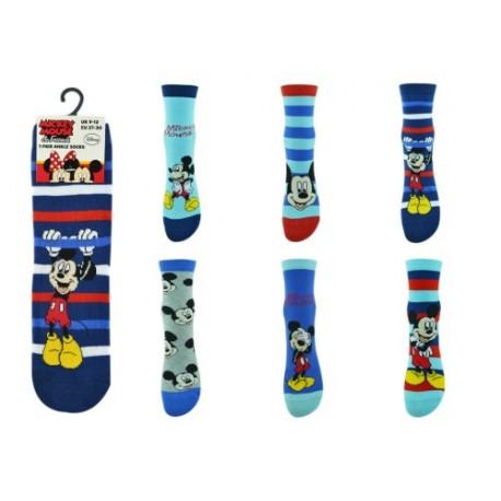 Lot de 6 chaussettes enfant mickey mouse