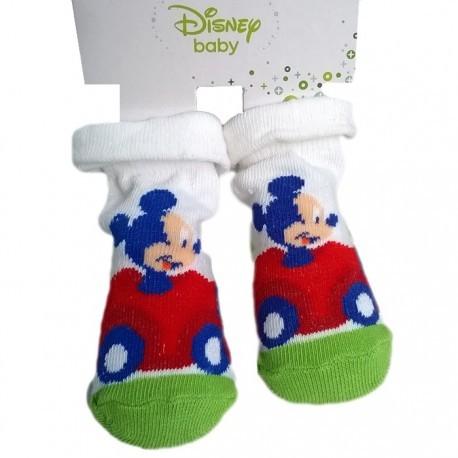 chaussettes mickey disney blanc