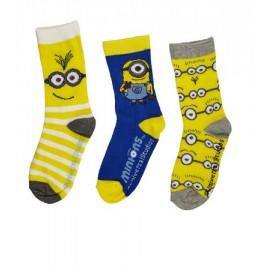 Lot de 3 paires de chaussettes MINIONS moi moche et mechant