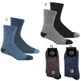Lot de 2 paires de chaussettes anti-dérapantes pour homme LOUNGE