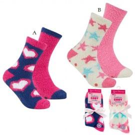 Lot de 2 paires de chaussettes anti-dérapantes pour femme COSY LADY