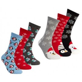 Coffret 6 paires de chaussettes pour femme motif NOEL
