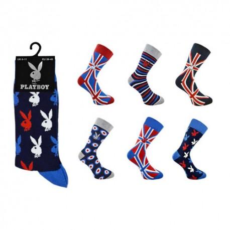 Coffret 6 chaussettes PLAYBOY LONDON