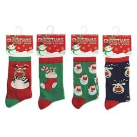 Lot de 4 paires de chaussettes enfant motif noel