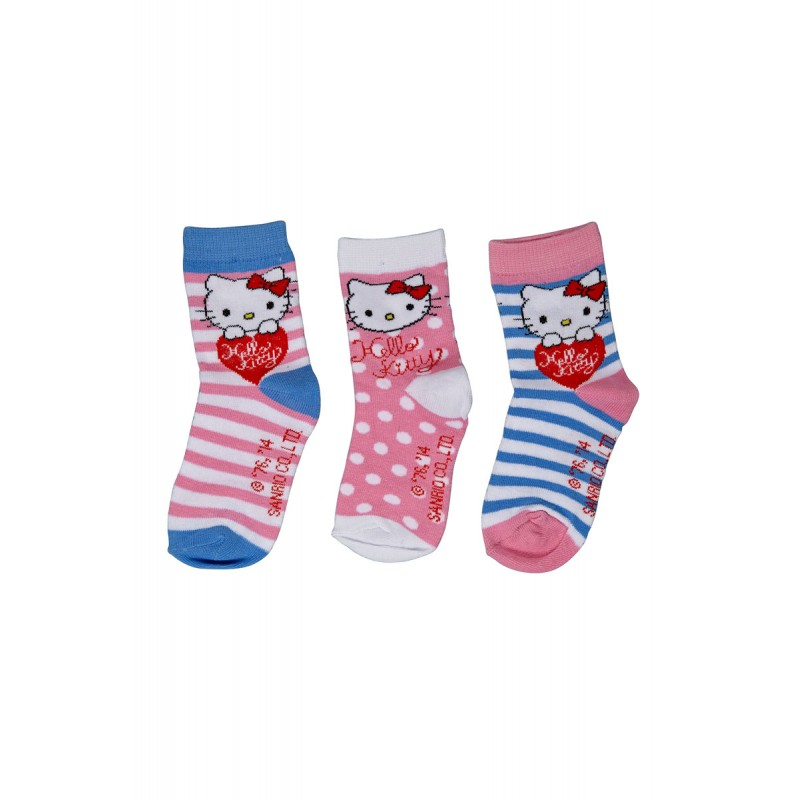 53c9f88baaebc FANTAISIES Lot de 3 paires de chaussettes HELLO KITTY. chaussettes enfant hello  kitty. Loading zoom