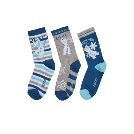 chaussettes olaf bonhomme de neige