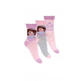 Lot de 3 paires de chaussettes PRINCESSE SOFIA