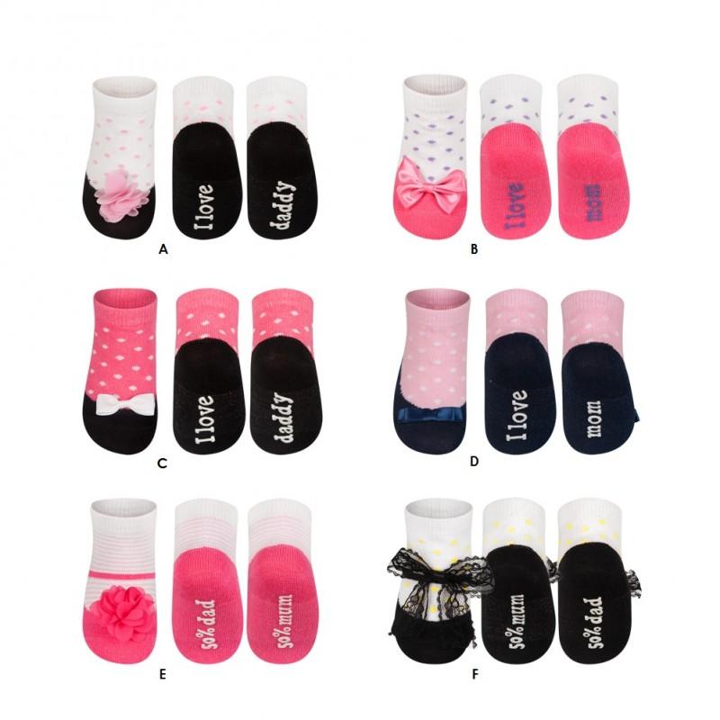des chaussettes pour bebe promenade ballerine effet trompe. Black Bedroom Furniture Sets. Home Design Ideas