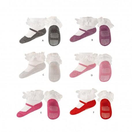 chaussettes pour b b effet ballerine. Black Bedroom Furniture Sets. Home Design Ideas