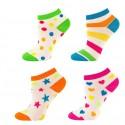 Lot de 4 paires de chaussettes socquettes FUNKY