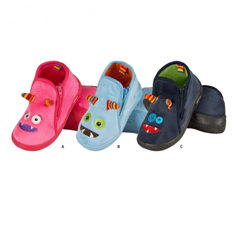chaussons pour enfant monsters fabriqu s en europe. Black Bedroom Furniture Sets. Home Design Ideas