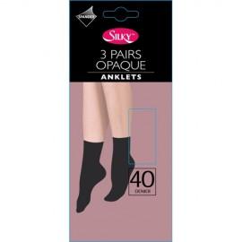 Lot de 3 paires de chaussettes noir 40 denier