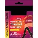 Chaussettes thermiques hautes 200 denier noir