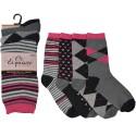 Lot de 3 paires de chaussettes pour femme