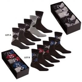 Coffret 5 paires de chaussettes PIERRE ROCHE