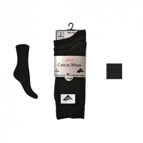 Lot de 3 paires chaussettes noir pour femme