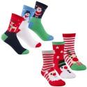Lot de 6 paires de chaussettes enfant motif noel