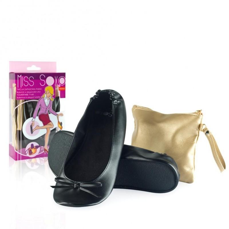 ballerine pliable de secours pour femme avec pochette de rangement. Black Bedroom Furniture Sets. Home Design Ideas