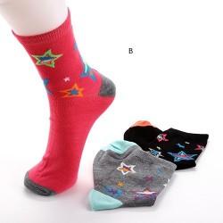 Lot de 3 paires de chaussettes femme STARS