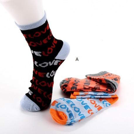 Lot de 3 chaussettes LOVE