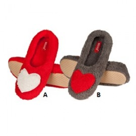 Chaussons pantoufles femme coeurs
