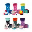 Chaussons chaussettes pour bébé antidérapants avec grelot
